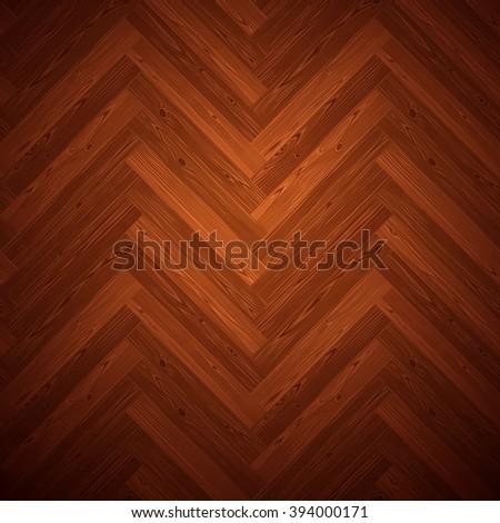 Herringbone parquet dark floor texture. Editable vector pattern in swatches. - stock vector
