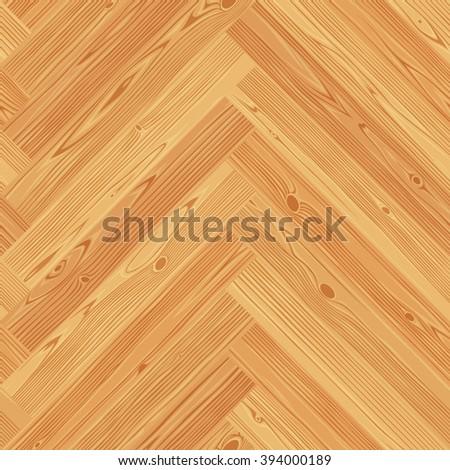 Herringbone parquet seamless floor texture. Editable vector pattern in swatches. - stock vector