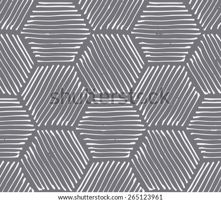 Hexagon abstract hatching wallpaper - stock vector