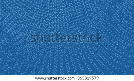 Hexagon abstract vector landscape background. Cyberspace hexagon grid. 3d technology vector illustration.Polygonal hexagon surface.