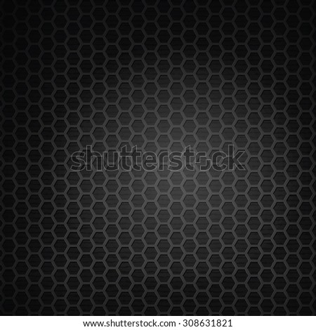 hexagon black grill background vector illustration
