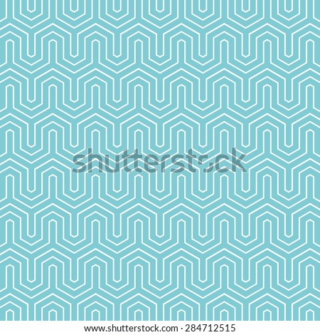 Hexagon chevron pattern background. Vintage vector pattern. - stock vector