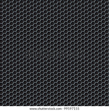 Hexagon Grid Seamless Background. Vector Illustration - stock vector