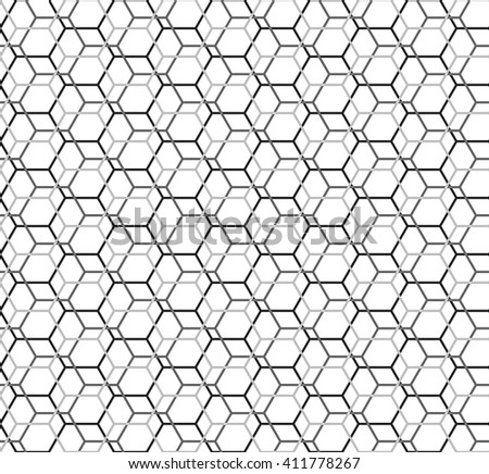 Hexagon Seamless Pattern Islamic Background Abstract Stock Vector ...