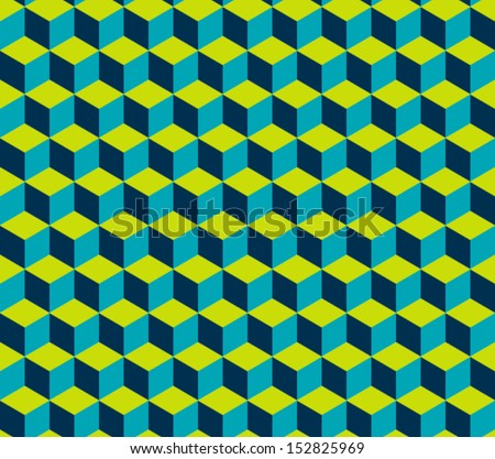 Hexagon seamless texture - stock vector