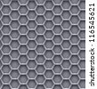 Hexagon steel background - stock photo