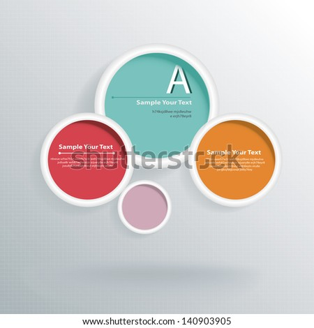Hexagon web design vector - stock vector