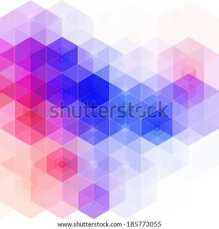 hexagonal abstract design - stock vector