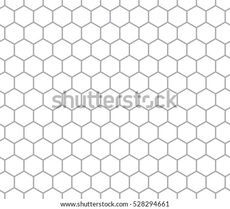 Hexagonal cell seamless pattern, comb texture. Vector illustration