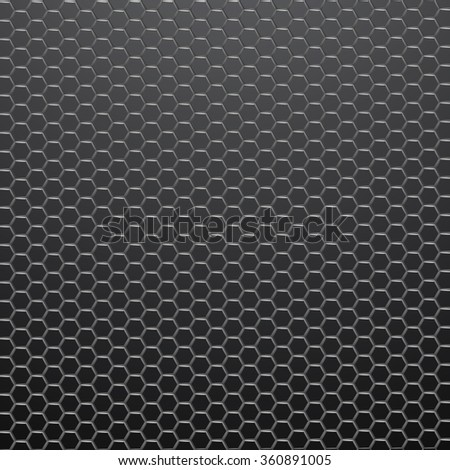 Hexagonal grid background. Vector Illustration.