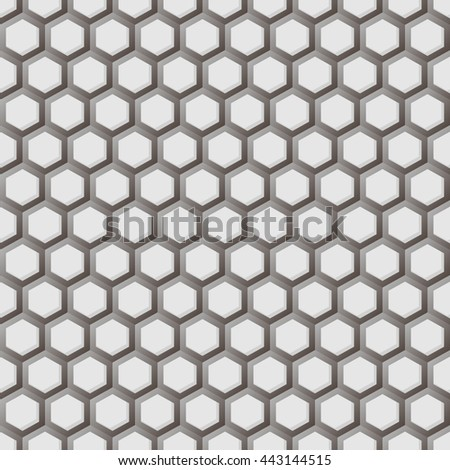 Hexagonal grid seamless pattern.Graphic design.Vector illustration with gradient on white background.Template for style design and print. Modern stylish abstract texture.Good for Technology Businesses