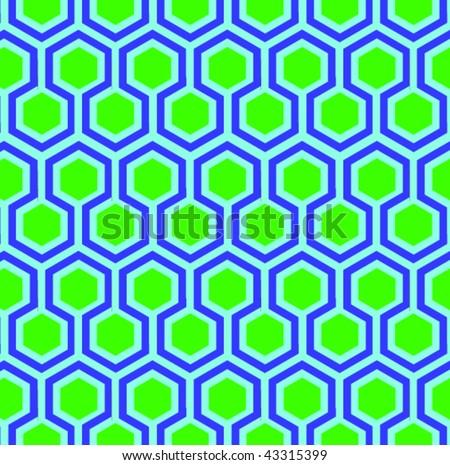 Hexagonal Pattern - stock vector