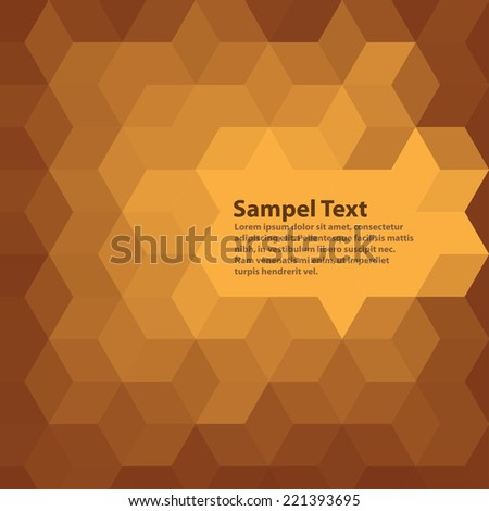 Hexagonal Pattern, background, modern pattern, high quality vector eps10 - stock vector