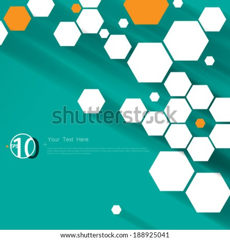 Hexagonal Shapes Digital Background - stock vector