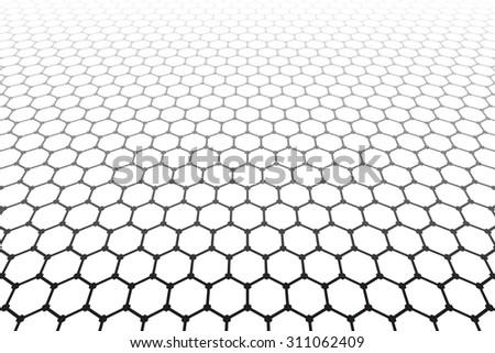 Hexagons pattern. Geometric latticed texture. Vector art. - stock vector