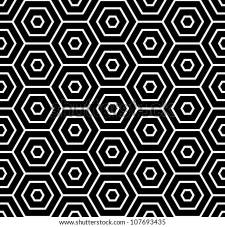 Hexagons texture. Seamless geometric pattern. Vector art. - stock vector
