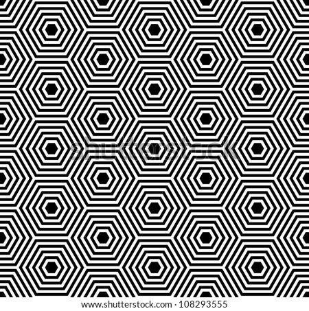 Hexagons texture. Seamless geometric pattern. Vector art. - stock vector
