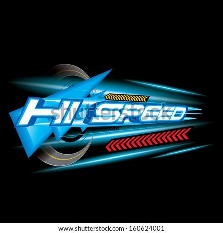 Hi Speed Concept vector - stock vector