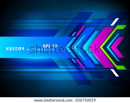 Hi tech abstract background. EPS 10. - stock vector