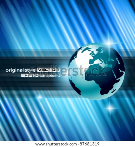 Hi-tech Abstract Business Background with Abstract Glowing motive to use for corporate presentation flyers or posters. - stock vector