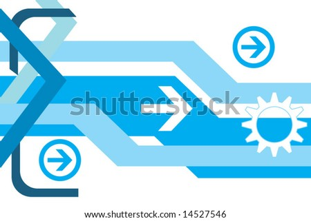 Hi-tech abstract vector background - stock vector
