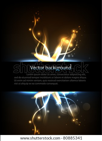 Hi-Tech background with place for your text. Vector illustration. - stock vector