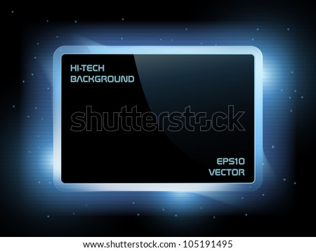 Hi-tech futuristic screen background, EPS10 vector - stock vector