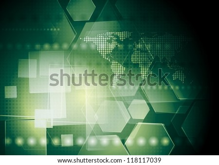 Hi-tech green abstract background. Vector illustration eps 10 - stock vector