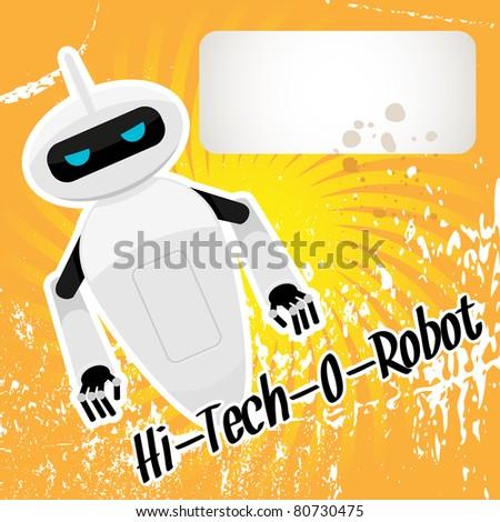 Hi-tech robot. Vector illustration. - stock vector
