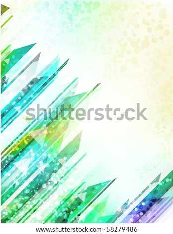 Hi-tech Urban Technology Related Background | Futuristic Vector Template - stock vector