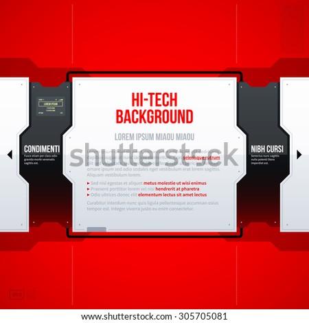 Hi-tech vector graphic template. EPS10 - stock vector
