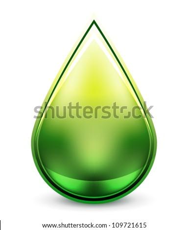 Hi-tech water drop icon - stock vector