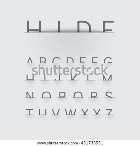 Hiding font with detailed pocket, vector - stock vector