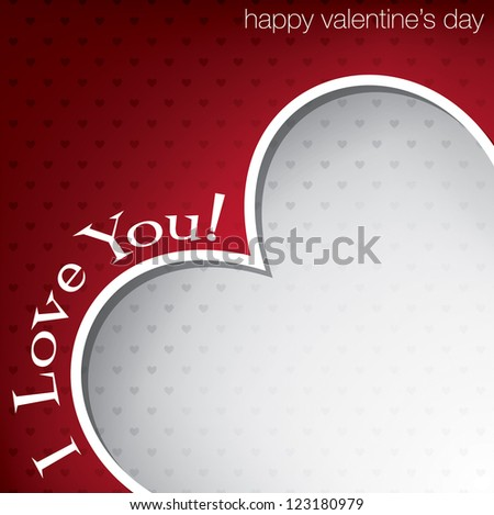 Hiding heart Valentine's Day card in vector format. - stock vector