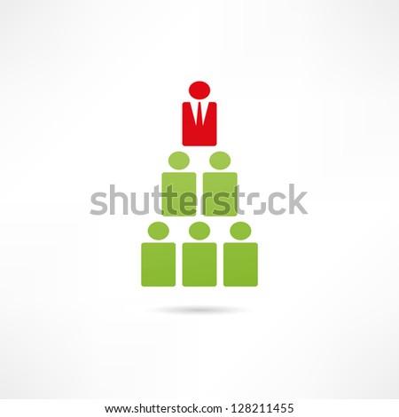 Hierarchy icon - stock vector