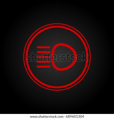 High Beam Sign Stock Vector 689601304 Shutterstock