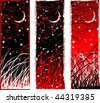 High contrast gothic vertical night banners (other landscapes are in my gallery) - stock vector