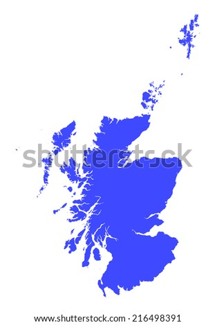 High detail of Scotland vector illustration map - stock vector