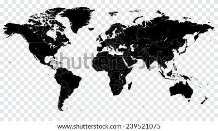 High Detail Vector Political World Map illustration, cleverly organized with layers