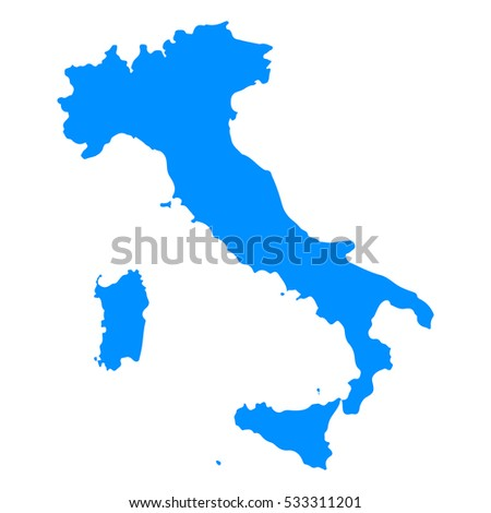 High detailed blue map, Italy .Vector illustration eps 10.