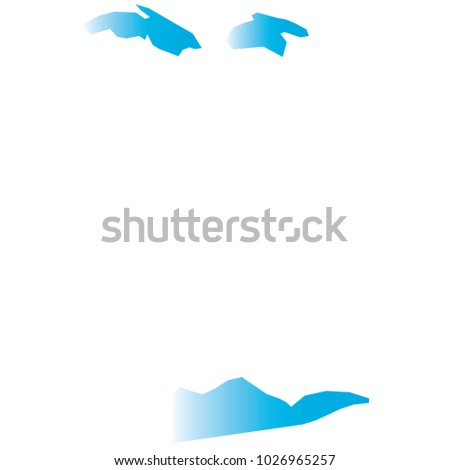 High Detailed Blue Vector Map Departments Stock Vector 1026965257 ...