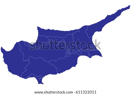Northern Cyprus Region Map Stock Images RoyaltyFree Images - Northern cyprus map