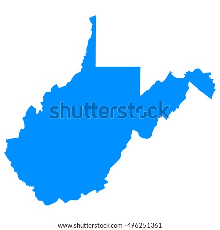 High Detailed Vector Map West Virginia Stock Vector - Detailed map of virginia