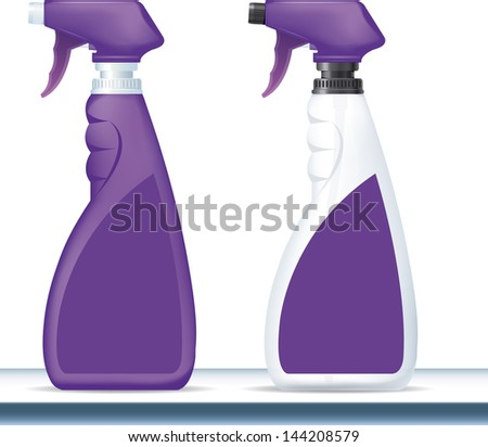 High detailed illustration of cleaning spray isolated on white background.  - stock vector