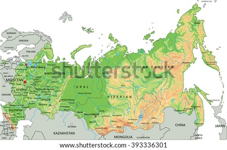 Map Of Russia Stock Images RoyaltyFree Images Vectors - Map of russia