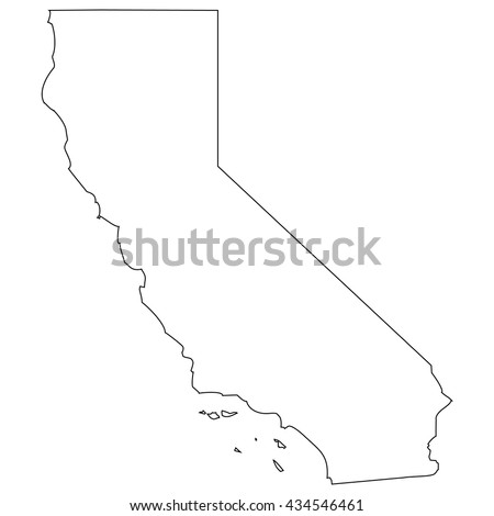 High detailed vector contour map - California