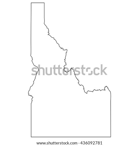 High detailed vector contour map - Idaho