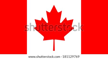 High detailed vector flag of Canada