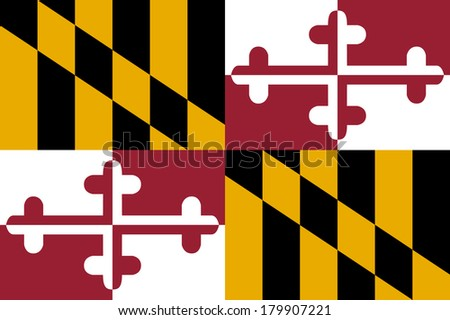 High detailed vector flag of Maryland - stock vector