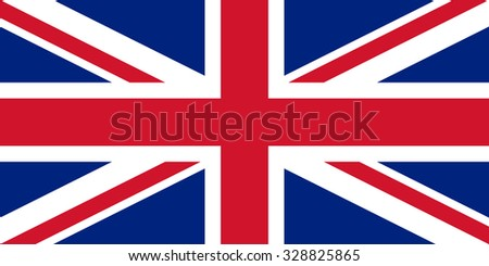 High detailed vector flag of United Kingdom